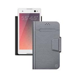"""Универсальный чехол-книжка для смартфонов 5.5""""-6.5"""" (Deppa Wallet Fold L 87011) (серый)"""