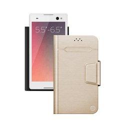 """Универсальный чехол-книжка для смартфонов 5.5""""-6.5"""" (Deppa Wallet Fold L 87012) (золотистый)"""