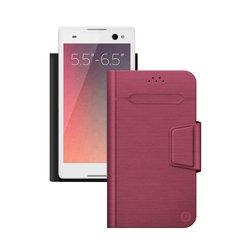 """Универсальный чехол-книжка для смартфонов 5.5""""-6.5"""" (Deppa Wallet Fold L 87013) (красный)"""