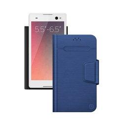 """Универсальный чехол-книжка для смартфонов 5.5""""-6.5"""" (Deppa Wallet Fold L 87014) (синий)"""