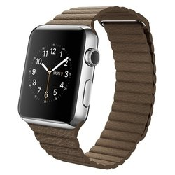 Apple Watch 42mm with Leather Loop (коричневый) :