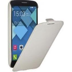 чехол-флип для alcatel one touch pop c7 7040, 7041 (ibox classic yt000007036) (белый)