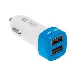 Автомобильное зарядное устройство 2xUSB (Neoline Volter L2) (белый, голубой)