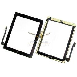 Тачскрин для Apple iPad 3 с клавишей HOME (47011) (черный)