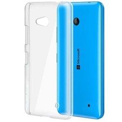 Силиконовый чехол-накладка для Microsoft Lumia 640 XL (iBox Crystal YT000007059) (прозрачный)