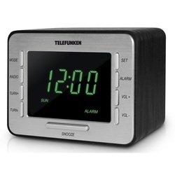 Часы с радиоприемником TELEFUNKEN TF-1508 (черный-зеленый)