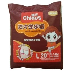 Chiaus трусики для девочек L (9-14 кг) 20 шт.