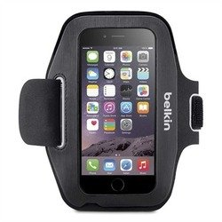 "чехол с ремешком на руку для apple iphone 6, 6s 4.7"" (belkin sport-fit armband f8w500btc00) (черный)"