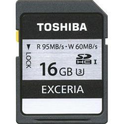 Карта памяти SDHC 16Gb Class 10 UHS-I без адаптера (Toshiba EXCERIA SD-X16UHS1(6))