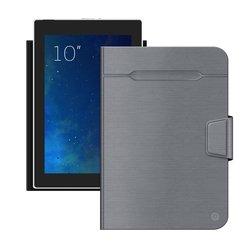 """Универсальный чехол-книжка для планшетов 10"""" (Deppa Wallet Fold 87036) (серый)"""