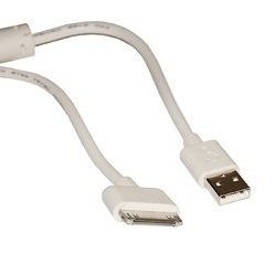 Дата-кабель USB-30 pin для Apple iPhone 3GS, 4, 4S, iPad, 2, 3 new, iPod Nano 6, touch 4 (Continent DCI-3150WT) (белый) OEM