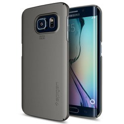 клип-кейс для samsung galaxy s6 edge (spigen thin fit sgp11570) (pc) (стальной)