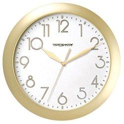 Часы настенные Тройка 11171183 (бело-золотистый)