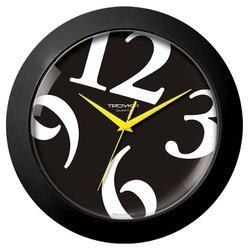 Часы настенные Тройка 51500512 (черный)