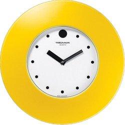 Часы настенные Тройка 55555556 (бело-желтый)