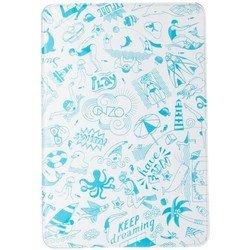 Чехол-книжка для Apple iPad mini 1, 2, 3 (ONZO OZ103102 Life is Surfing) (бело-голубой)