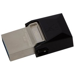 kingston datatraveler microduo 3.0 16gb + 16gb в яндекс облаке (dtduo3/16gb-yan)