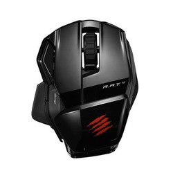 mad catz office r.a.t.m wireless mouse for pc, mac, android gloss black usb