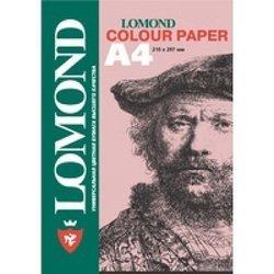 Офисная цветная бумага A4 (200 листов) (Lomond 1004211) (розовый)