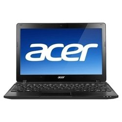 "acer aspire one ao725-c68kk (c-60 1000 mhz/11.6""/1366x768/1024mb/320gb/dvd ���/wi-fi/win 7 starter)"