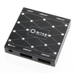 USB HUB 4 порта (5bites HB34-302PBK) (черный)