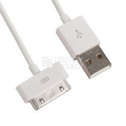 Дата-кабель USB - Apple 30-pin (R0001875) (белый)