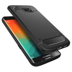 клип-кейс для samsung galaxy s6 edge+ (spigen case rugged armor sgp11698) (черный)
