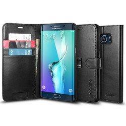 Чехол-подставка для Samsung Galaxy S6 Edge+ (Spigen Wallet S SGP11707) (черный)