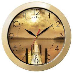 Часы настенные Тройка 11171146 (золотистый)