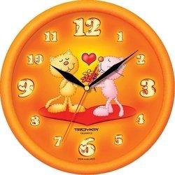 Часы настенные Тройка 21251234 (оранжевый)