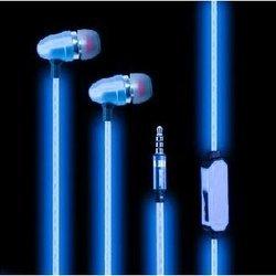 Светящиеся наушники (GLOW EL PX/EL BLU) (синий)