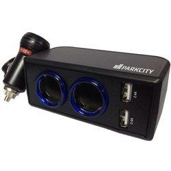 Разветвитель прикуриватель на 2 гнезда + USB (ParkCity SM-222) (черный)