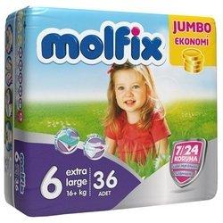 Molfix подгузники 7/24 (16+ кг) 36 шт.