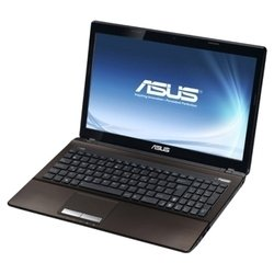 "asus x53s (core i5 2450m 2500 mhz/15.6""/1366x768/4096mb/500gb/dvd-rw/nvidia geforce gt 630m/wi-fi/bluetooth/win 7 hb)"
