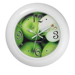 Часы настенные Тройка 71711240 (Зеленые яблоки)