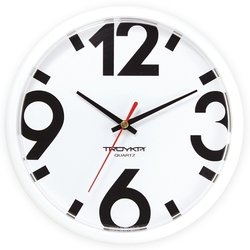 Часы настенные Тройка 91910916 (Большие цифры)