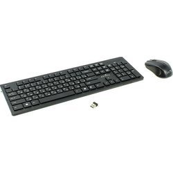 Клавиатура+мышь Oklick 250M (черный)