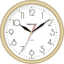 Часы настенные Тройка 21271212 (бело-золотистые)