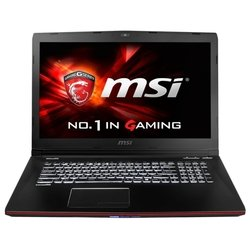 "MSI GE72 2QC Apache (Core i5 4210H 2900 MHz/17.3""/1920x1080/8Gb/1000Gb/DVD-RW/NVIDIA GeForce GTX 960M/Wi-Fi/Bluetooth/Win 8) (GE72 2QC-206RU) (черный)"