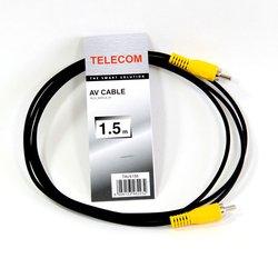 Кабель RCA (M) - RCA (M) 1.5м (Telecom TAV4158-1.5M) (черный)