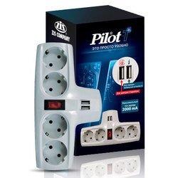 Сетевой фильтр Pilot T (4 розетки) (белый)