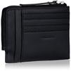 Кошелек мужской Piquadro Pulse (PU1243P15/N) (черный) - КожаКожа<br>Чехол для кредитных карт, натуральная кожа. Отделение для монет на молнии.<br>