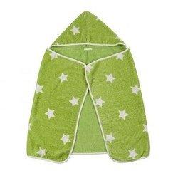 Полотенце-уголок с капюшоном Happy Baby Fluffy (34017 GREEN) (зеленый)