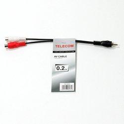 Кабель RCA (m) - 2xRCA (f) 0.2 м (Telecom TAV4954-0.2M) (черный)