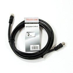Кабель антенный RG59 F (m) - F (m) 2м (Telecom TAN9520-2M) (черный)