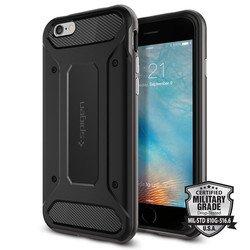 """Чехол накладка для Apple iPhone 6, 6S 4.7"""" (Spigen Neo Hybrid Carbon SGP11621) (стальной)"""