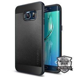 Чехол-накладка для Samsung Galaxy S6 Edge Plus (Spigen Neo Hybrid Carbon SGP11705) (металлический)