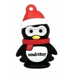 smartbuy penguin x'mas series 16gb (sb16gbpenguin) (красно-черный)