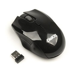 Беспроводная мышь Dialog MROP-04UB (черный)