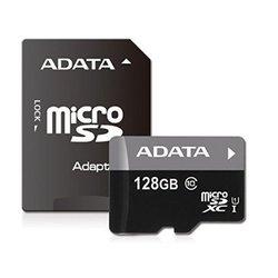 Карта памяти microSDXC Adata Premier 128Gb Class 10 + адаптер (AUSDX128GUICL10-RA1)